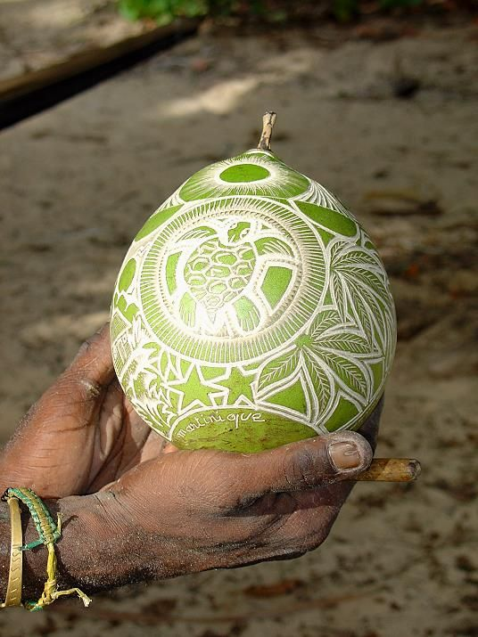 decorated calabash