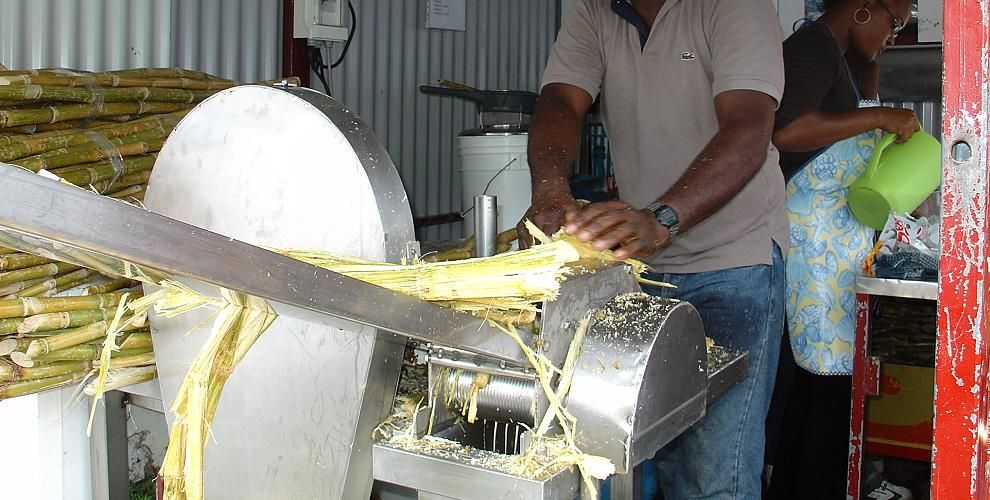 sugar cane juice or jus de canne