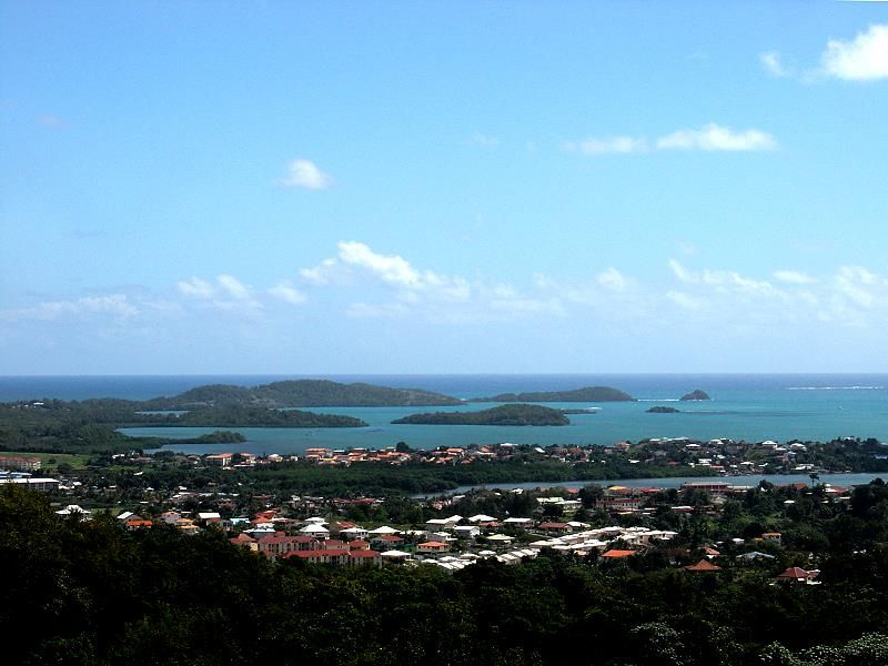 Robert Bay and its little islands in the north of Martinique