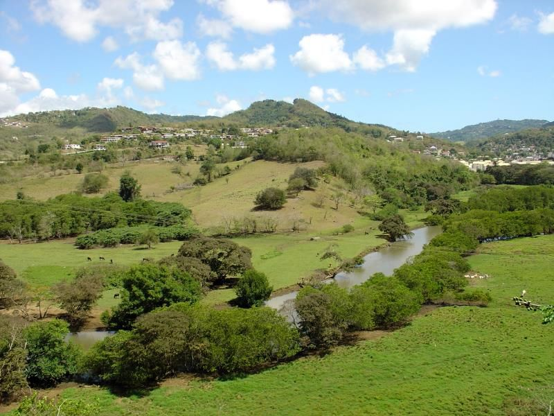 countryside landscape south Martinique