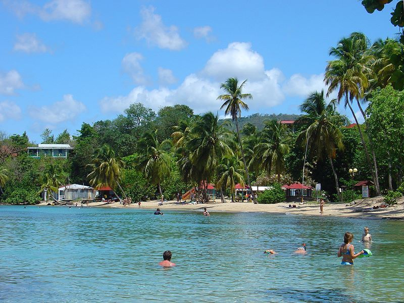 Anse Figuier beach in Rivière Pilote, Martinique