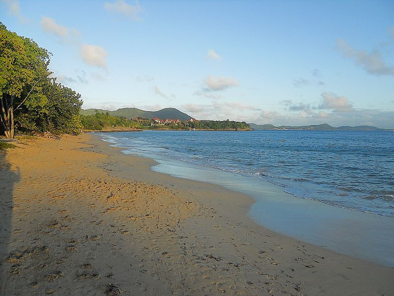 Corps de Garde beach in Sainte Luce Martinique
