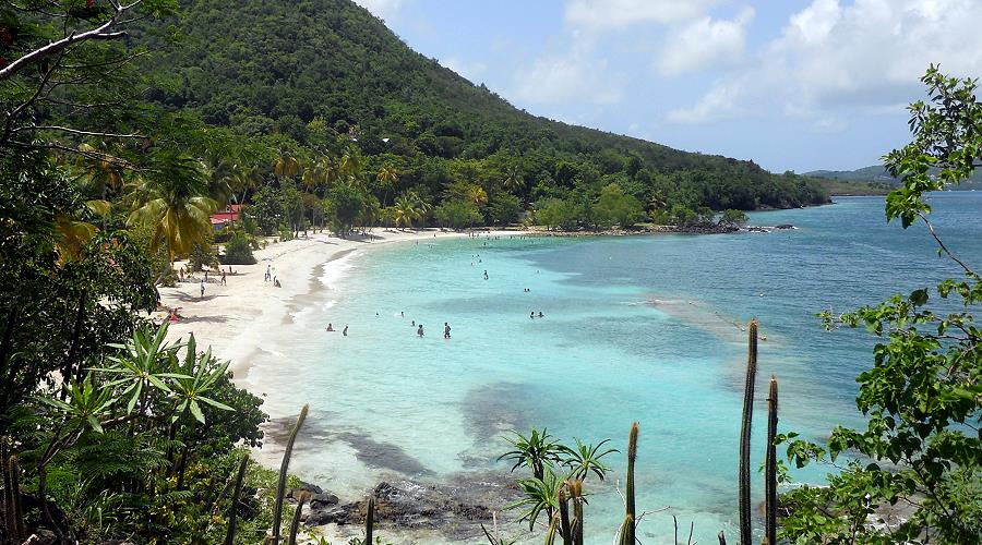 south coast beaches in the Caribbean Martinique