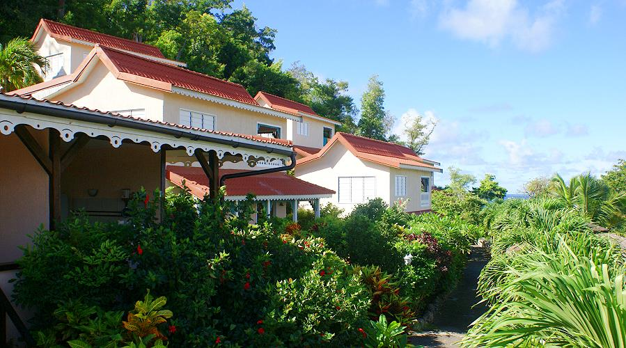 Anoli Village in Sainte Anne, Martinique