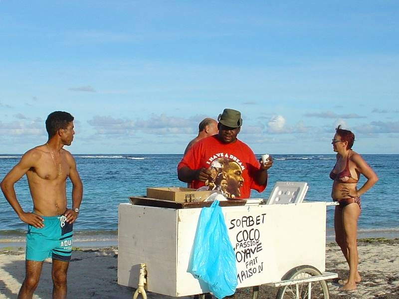 sorbets on the beach in martinique